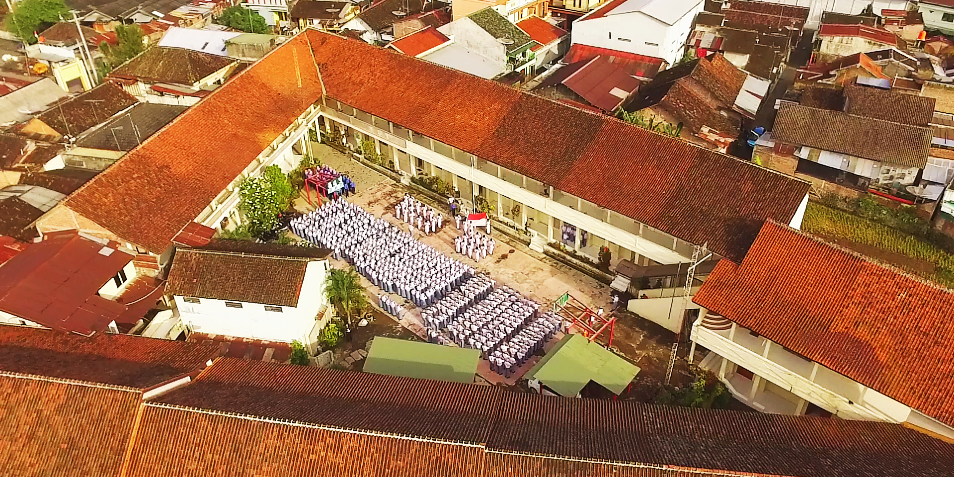 SMK 17 Parakan from the sky